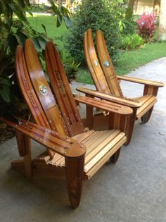 Ski-daddle Water Ski Outdoor Furniture - Recycled Water Skis, Water Ski Chairs, Home Accents