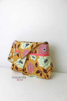love this fabric!!! Chloe Pleated Purse Tote Hobo  Shoulder Bag in by marandalee, $49.00