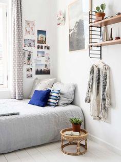 bedroom in saar manche's townhouse featured in vtwonen / sfgirlbybay