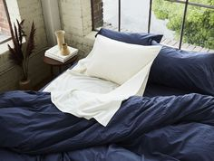 Bring the organic comforts of home with you when you travel. Made of the same silky, organic fair trade cotton as our sateen sheeting, our Travel Sack offers Coyuchi purity and comfort wherever you go. Organic Cotton Sheets, Wool Dryer Balls, Hotel Bed, Simple Bed, Duvet Sets, How To Memorize Things, Bedroom Décor, Bedrooms, Fair Trade