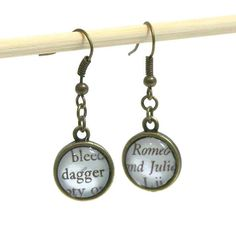 Hey, I found this really awesome Etsy listing at https://www.etsy.com/listing/172848459/romeo-and-juliet-earrings-shakespeare