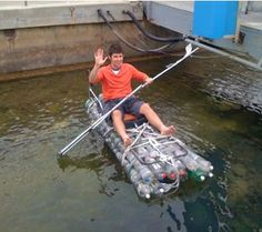 Recycled Bottle Boat which I am going to use as one of my projects for Earth Day here on the Penobscot Reservation, L-A