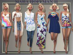 My Sims 4 Blog: Mara Hoffman II Summer Casuals by Judie