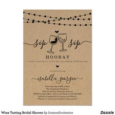 Bachelorette wine tasting weekend itinerary invitation you have to see this diy wine tasting bachelorette party! Wine Tasting Party, Wine Parties, Wine Party Themes, Wine Tasting Shower, Party Ideas, Bachelorette Party Invitations, Bridal Shower Invitations, Winery Bachelorette Party, Invites