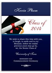 Honors College Graduation Invitation Design   Graduation