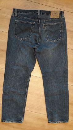 Men LEVIS STRAUSS Jeans 615 Dark Mid Blue Size W38 L30 Zip Fly #Levis