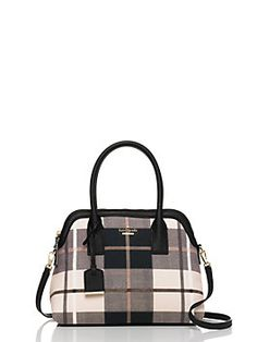 a few years back, we introduced our clean-lined maise…and it promptly became one of our best-selling styles ever. now, the go-anywhere, carry-everything bag has been re-imagined for fall in our new cameron street fabric,  a plaid flannel in a classic color palette that's as adaptable as it is chic.