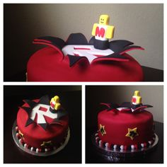 ROBLOX explosion cake. Made May 2014
