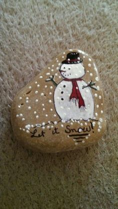 """Let it snow"" Holiday Message Stone"