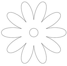Retro Flower Black White Line Art Valentine 555px.png