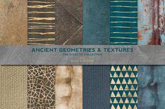 Ancient Geometric Gold & Textures by Blixa 6 Studios on Creative Market