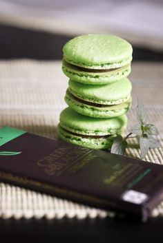 """After Dinner"" Mint Macarons"