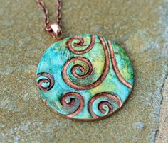 Stamp 4 Life: Polymer Clay Jewelry - I would love to know how to make something like this!
