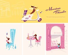 Monsieur Boudin the dachshund from Paris. Design by Lab Partners, California