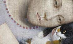Por amor al arte: Vladimir Dunjic Nine Cat, Gatos Cat, Portrait Art, Portraits, Artist Art, Crazy Cats, Figurative Art, Cat Art, Female Art