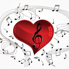 """Music Heart"" Poster by musicangel Heart Wallpaper, Music Wallpaper, Love Wallpaper, Music Drawings, Music Artwork, Music Heart, Heart Art, Music Notes Art, Music Music"