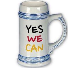 Yes we can coffee mugs