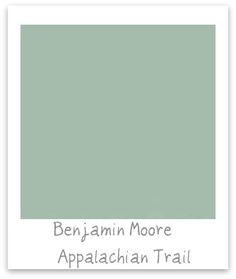 The perfect mix of blue and green! Ben Moore #paint See next pic of it in an actual room!
