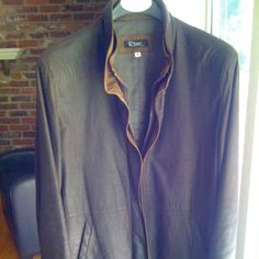 Women's Remy leather jacket. Espresso with 'cognac' inner collar detail. Beautiful leather. $756