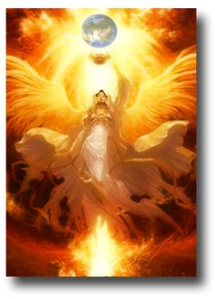 Gold and white, angel, divine, spiritual illustration. Angels Among Us, Angels And Demons, Fantasy Kunst, Fantasy Art, Dark Fantasy, Art Et Design, Design Design, Angeles, I Believe In Angels