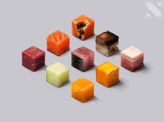 Food cubes, Nai Lee on ArtStation at https://www.artstation.com/artwork/5d3Bg
