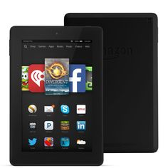 "Fire HD 7 Tablet, 7"" HD Display, Wi-Fi, 16 GB - Includes Special Offers, Black. Beautiful 7"" HD display with over a million pixels (216 ppi / 1280 x 800). All-new Amazon Underground, a one-of-a-kind app store experience where over $10,000 in apps, games and even in-app items are actually free - including extra lives, unlocked levels, unlimited add-on packs and more. Enjoy more than 33 million movies, TV shows, songs, books, Android apps and games. Available in five brilliant color…"