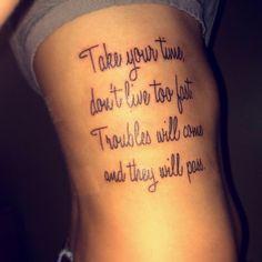"My 2nd tattoo. :) Lyrics from Lynard skynards ""simple man""..  Love it:)"