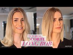 COMO FAZER CORTE LONG BOB - YouTube