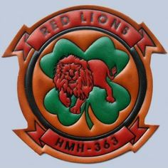 Buy HMH 363 Red Lions Leather patch FlightJacket.com