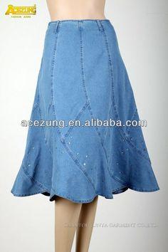 jean j2215r de fábrica al por mayor de moda volantes oem decorado rhinestone split de mezclilla faldas de las mujeres-XL Falda-Identificación del producto:329774741-spanish.alibaba.com