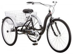 Meridian Adult Schwinn Tricycle Three Wheeled Trike Men's Women's Bicycle Red Mint Green Blue Silver Grey Bike with Metal Wire Shopping Basket Beach Cruiser (Mint Green) Tricycle Bike, Adult Tricycle, Trike Bicycle, Bicycle Basket, Cruiser Bicycle, Bicycle Tools, Cargo Bike, Schwinn Bikes, Bicycle Art