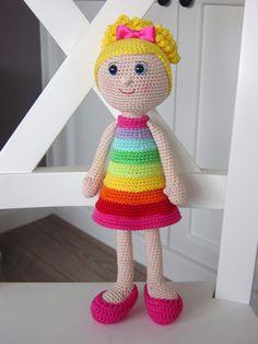 Haakpatroon Regenboog pop van DutchDollDesign op Etsy ♡