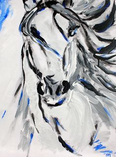 The first horse painting that I did. It is still one of my favourites. Original work is acrylic on canvas by Valentina Miletic.