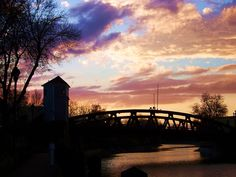 Sunset on the Erie Canal - Fairport