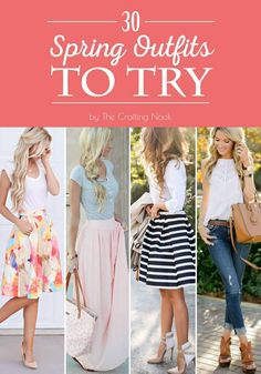 30 Cute Spring Outfits to Try | The Crafting Nook by Titicrafty