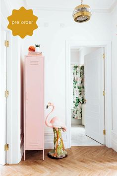 The Skinny in Blush by Mustard Made - The Skinny Locker wants to help. She'll keep your stuff neat and tidy. Standing alone or in paired with friends The Skinny is elegant, beautiful and practical. Storage for your kids room, home or work space. Metal Lockers, Hanging Rail, Neat And Tidy, Floor Space, House And Home Magazine, Large Furniture, Trends, My New Room, Adjustable Shelving