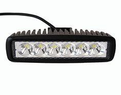 dlll 18W Spot LED Lampe de travail 1800Lumen 6500K Lumière étanche 30° pour Off Road de véhicules, ATV, UTV véhicules de construction,…