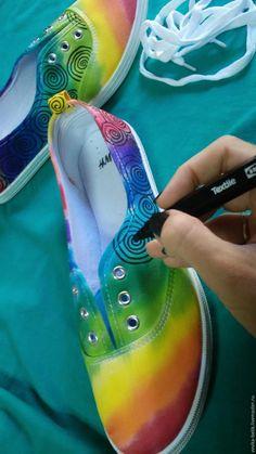 Расписываем стильные кеды для подростка - Ярмарка Мастеров - ручная работа, handmade