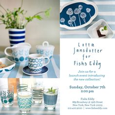 Join us on Sunday, October 7th, at 2PM for our launch party introducing our #NEW collection with @Lotta Jansdotter!