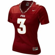 Nike Florida State Seminoles (FSU) #3 Women's Replica Football Jersey - Garnet  #Fanatics