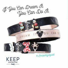 Disney Charm Bracelets, Mickey, Minnie, keep collective charm bracelet IG Keep Collection, Keep Bracelet, Disney Wishes, Silver Jewelry Cleaner, Disney Jewelry, Keep Jewelry, Jewelry Box, Disney Style, Disney Dream