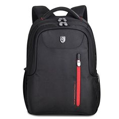 d340a74b2aea Coavas Backpack With Laptop Compartment for Inches Laptop Sports Travel  Business Waterproof Bag (Black + Red)
