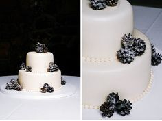 Simply adorable this pinecone wedding cake