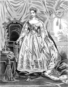 1838 Her Majesty Queen Victoria in royal robes | Grand Ladies | gogm
