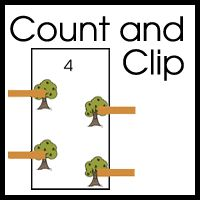 These count and clip clothespin cards are designed for young learners - about 2-5. Scroll Down to download the Count and Clip Cards! Graphics from Scrappin Doodles, Melonheadz, Teache...