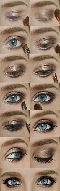 Pretty smokey eye for summer