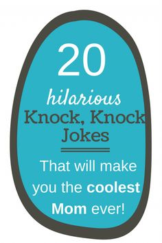These funny knock knock jokes for kids will have you & your kids laughing. They are perfect for lunch box jokes. Printable Jokes for Kids are a really great Knock Knock Witze, Funny Knock Knock Jokes, Funny Jokes For Kids, Good Jokes, Mom Funny, Kids Humor, Funny Memes, Toddler Jokes, School