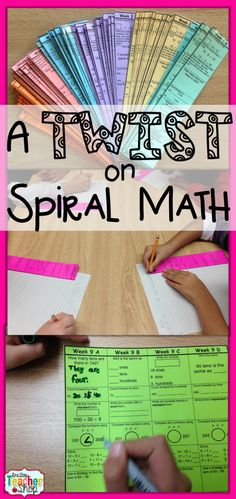 Take Spiral Math and put a TWIST on it! This blog post gives you some new and fun ways to use spiral math homework sheets in your classroom! (LOVE #2)