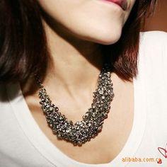 2013 *Fall season* Crystal Chunky Statement Choker Necklace