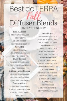 Fall is such a beautiful time of the year and have some amazing smells to enjoy this season. Here are the best doTERRA fall diffuser blends to use! Essential Oil Diffuser Blends, Essential Oil Uses, Young Living Essential Oils, Doterra Blends, Doterra Essential Oils, Diffuser Recipes, Wellness, Diffusers, Nyx Matte